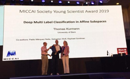 Thomas Kurmann wins MICCAI Young Scientist Award 2019